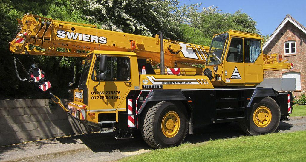 Mobile Crane Explained : Swiers crane hire tonne all terrain mobile for